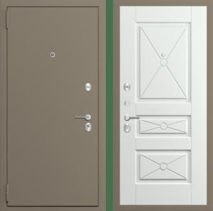 Входная дверь СЕРЫЙ МУАР / ИВА СВЕТЛАЯ ПОПЕРЕЧНАЯ Порошок/Ламинат СП110