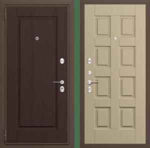 Входная дверь ЗОЛОТОЙ МУАР / ПАТИНА ДРЕВЕСНАЯ СП125
