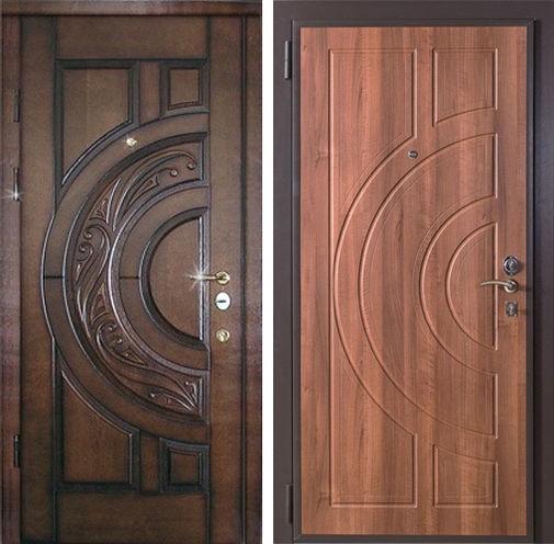 Входная дверь МДФ шпон / МДФ шпон СП215