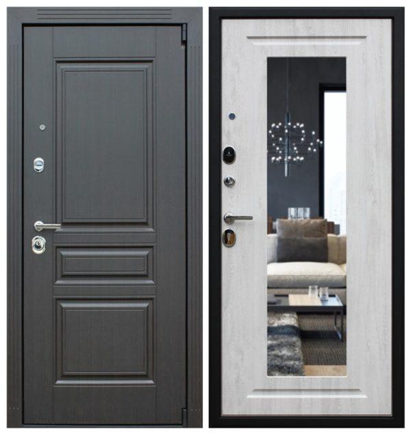 Дверь входная металлическая с зеркалом СП176