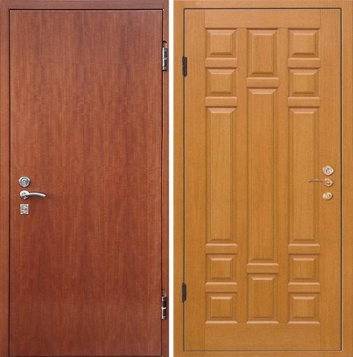 Входная металлическая дверь ламинат и МДФ СП022