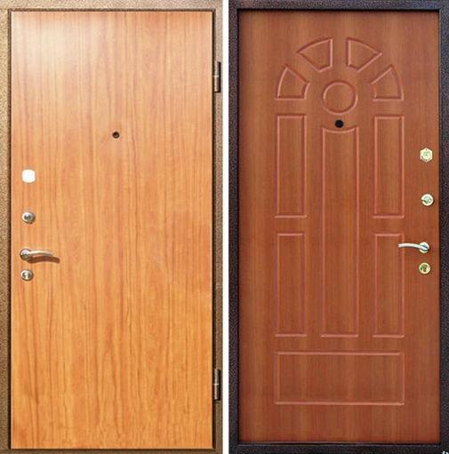 Входная металлическая дверь ламинат и МДФ СП023