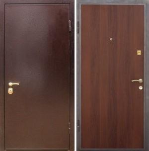 Входная металлическая дверь порошковое напыление + ламинат СП008