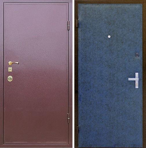 Входная металлическая дверь порошковое напыление + винилискожа СП001
