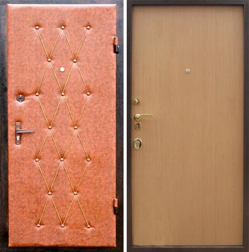 Входная металлическая дверь винилискожа + ламинат СП295