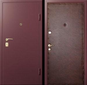 Входная металлическая дверь НЦ окрас + винилискожа СП289