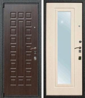 Входная металлическая дверь МДФ с зеркалом СП324