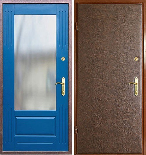 Входная металлическая дверь винилис-кожа + МДФ (ПВХ) СП056